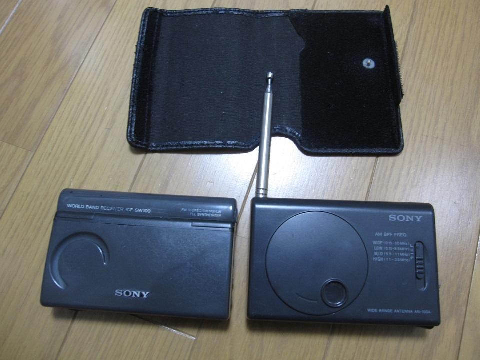 SONY  ソニー  ICF-SW100 WORLD BAND RECEIVER AN-100A付 通電可 ジャンク