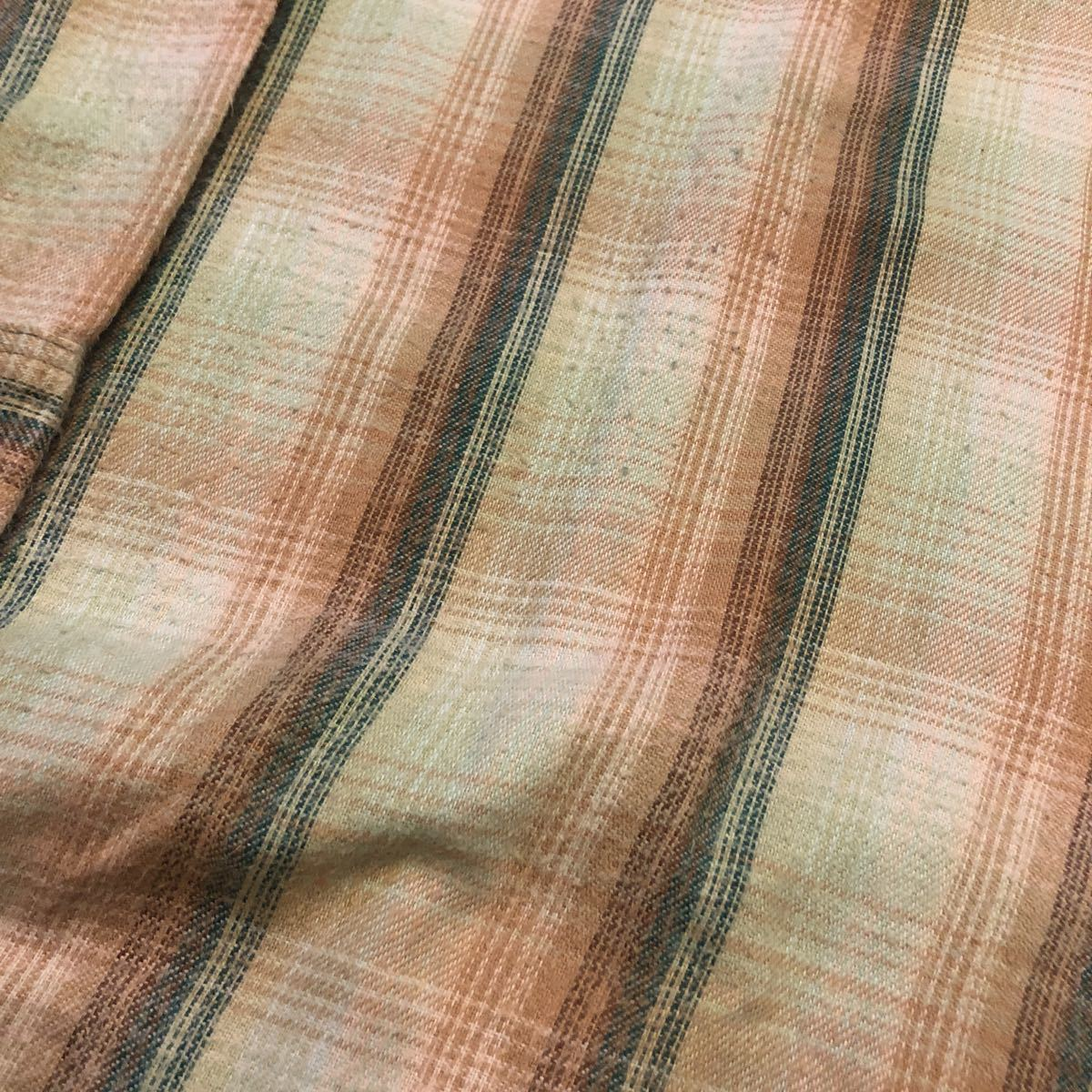 70s BIGMAC ビッグマック ネルシャツ レアカラー ビッグサイズ ビンテージ ut438_画像3