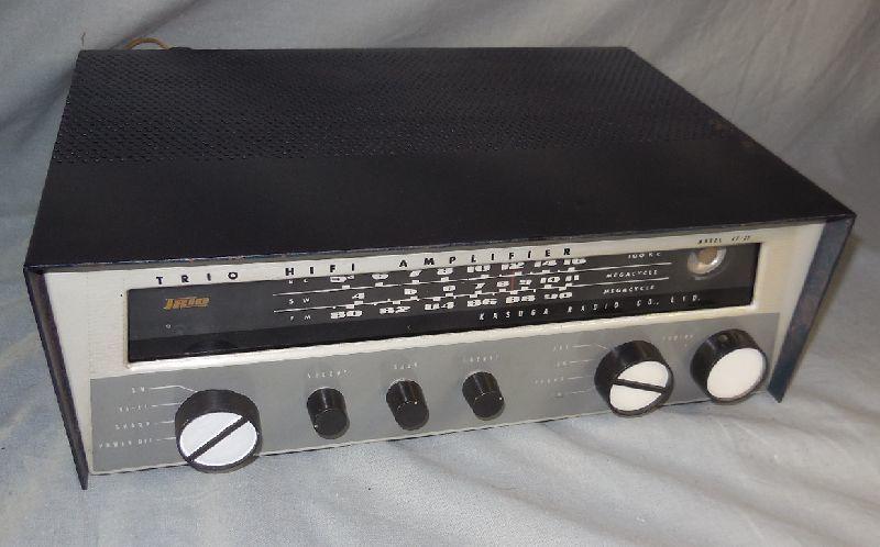 FM-AM3バンド真空管式モノラルレシーバーアンプ・トリオ・TRIO・AF-22・金属キャビネット・感度良好・動作保証
