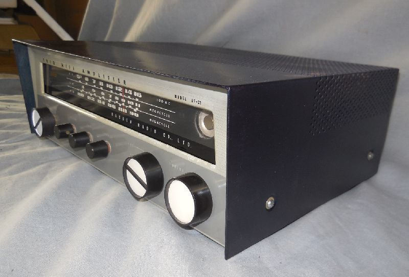 FM-AM3バンド真空管式モノラルレシーバーアンプ・トリオ・TRIO・AF-22・金属キャビネット・感度良好・動作保証_画像9