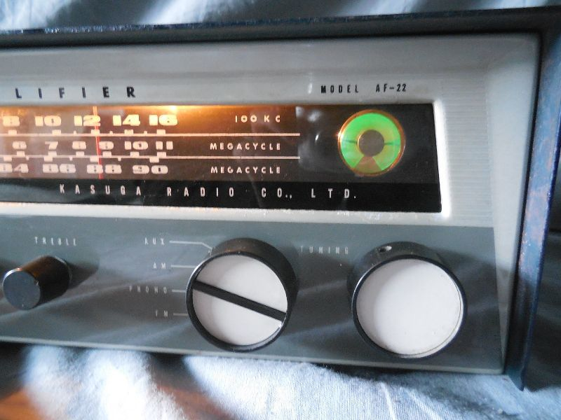 FM-AM3バンド真空管式モノラルレシーバーアンプ・トリオ・TRIO・AF-22・金属キャビネット・感度良好・動作保証_画像2