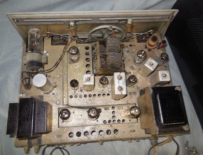 FM-AM3バンド真空管式モノラルレシーバーアンプ・トリオ・TRIO・AF-22・金属キャビネット・感度良好・動作保証_画像5
