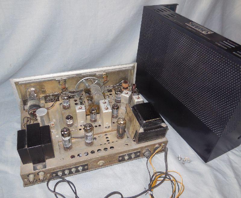 FM-AM3バンド真空管式モノラルレシーバーアンプ・トリオ・TRIO・AF-22・金属キャビネット・感度良好・動作保証_画像4