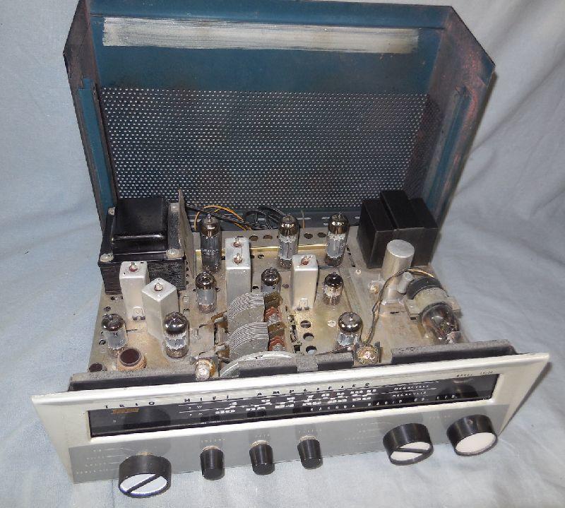 FM-AM3バンド真空管式モノラルレシーバーアンプ・トリオ・TRIO・AF-22・金属キャビネット・感度良好・動作保証_画像10