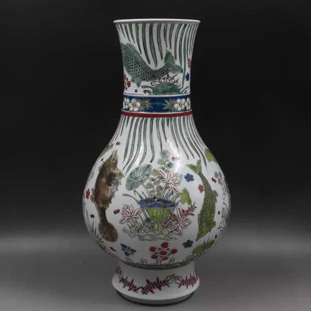 Yahoo! Auction in English - ALEADO.COM & China porcelain flour . load flower fish . luck tube bin ...
