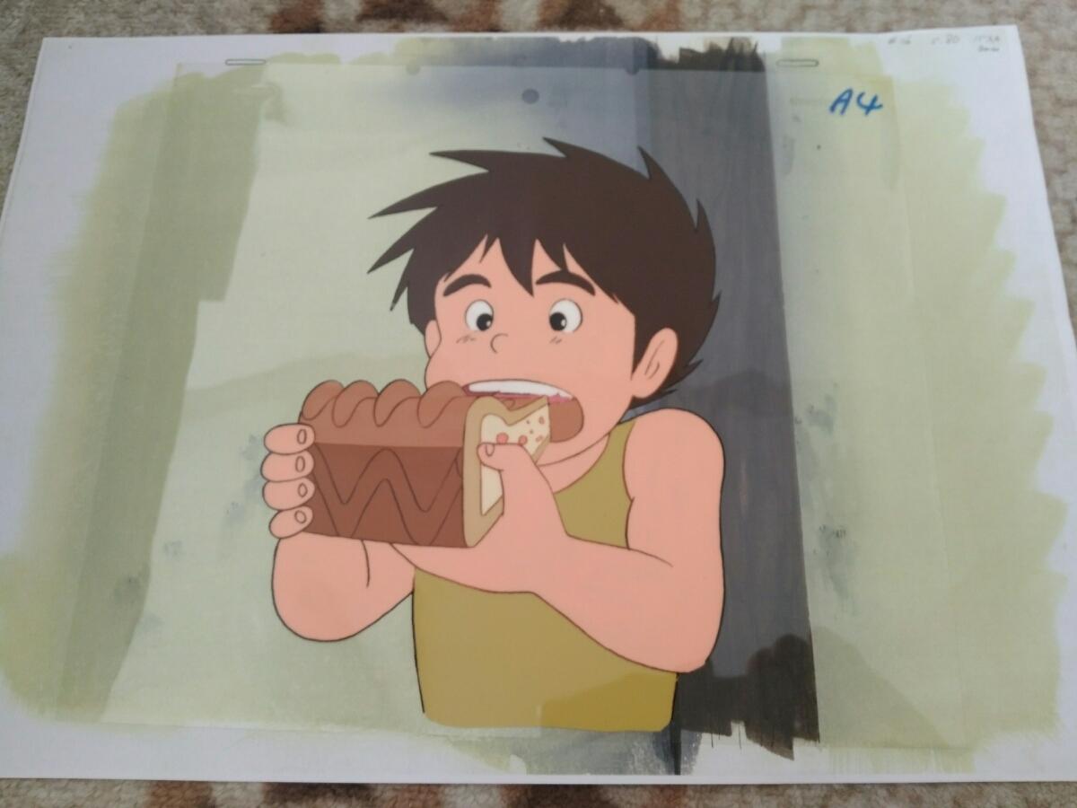 【セル画】 未来少年コナン コピー背景付き 宮崎駿_画像1