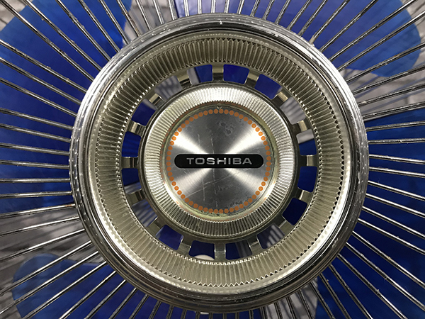 動作品 東芝 TOSHIBA 扇風機 H-30P10 羽根径30cm 4枚羽根 高さ 調整 タイマー 付 昭和 レトロ ヴィンテージ 家電 コレクション 稼働 札幌 _画像4