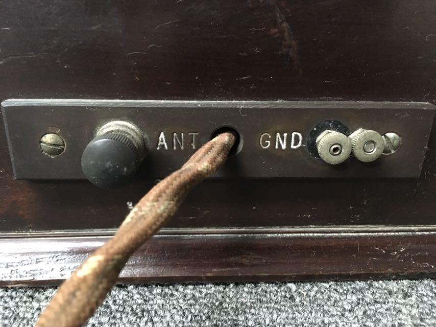 ラジオ UNIVERSAL TRIRDYNE 新案特許 アンティーク 真空管 中古品 reref-d 1226_画像9