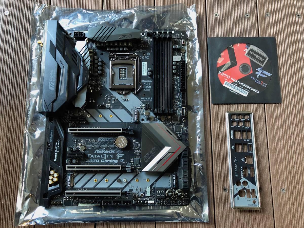 自作 PCパーツ【美品・中古】Fatal1ty Z370 Professional Gaming i7 ATX マザーボード