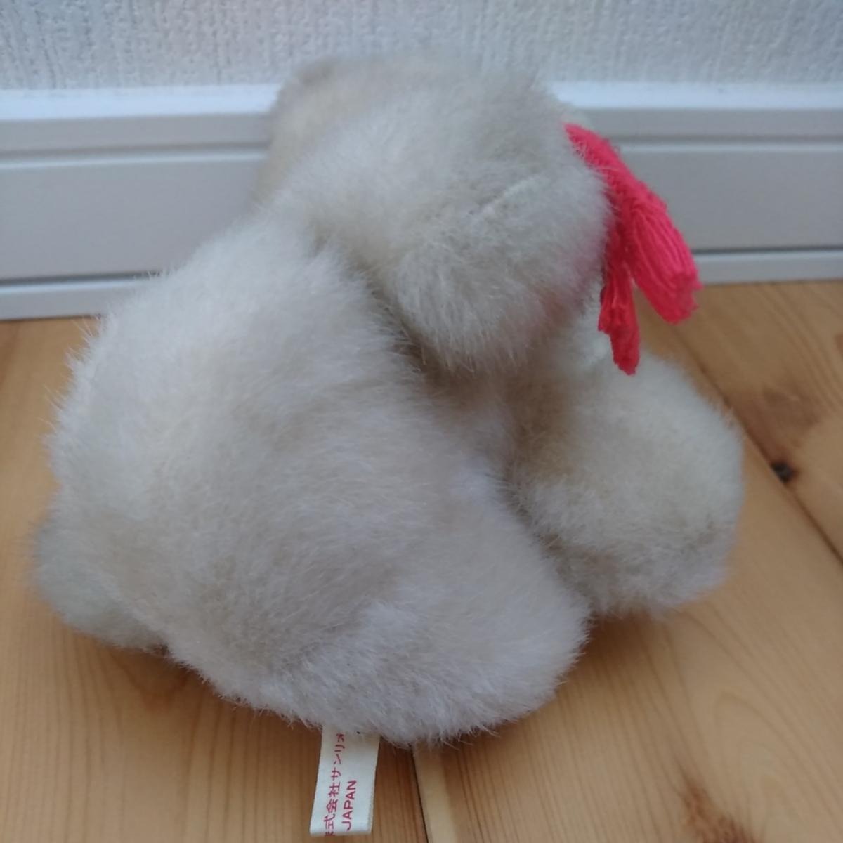 昭和 レトロ ぬいぐるみ 人形 サンリオ キャラクター 犬 イヌ 動物 当時物 検索 キキララ キティ マイメロ コレクター _画像3