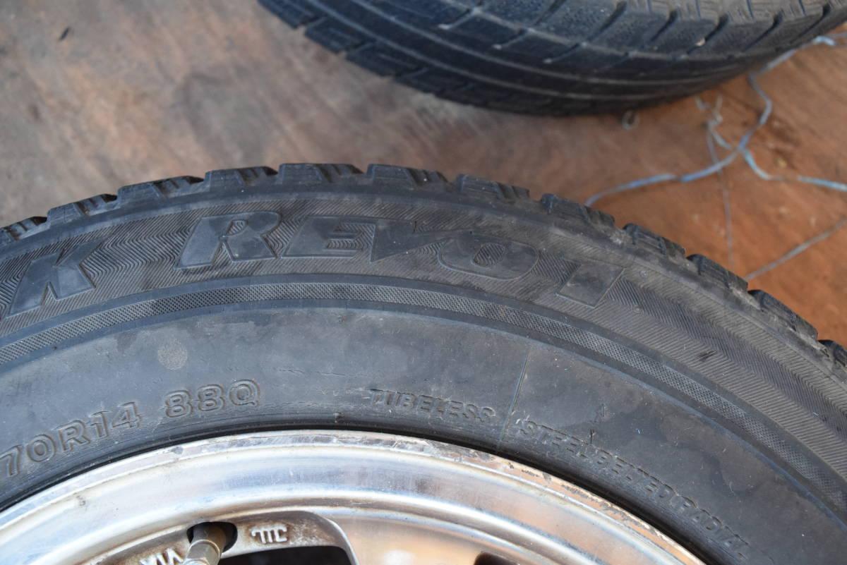185/70R14 PCD100 14×6JJ 4穴 アルミ 4本セット タイヤはおまけ カローラフィールダー シエンタ等_画像5