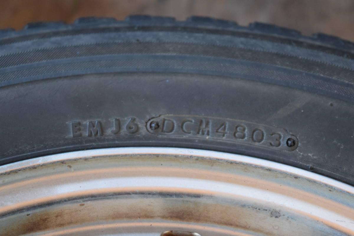 185/70R14 PCD100 14×6JJ 4穴 アルミ 4本セット タイヤはおまけ カローラフィールダー シエンタ等_画像3