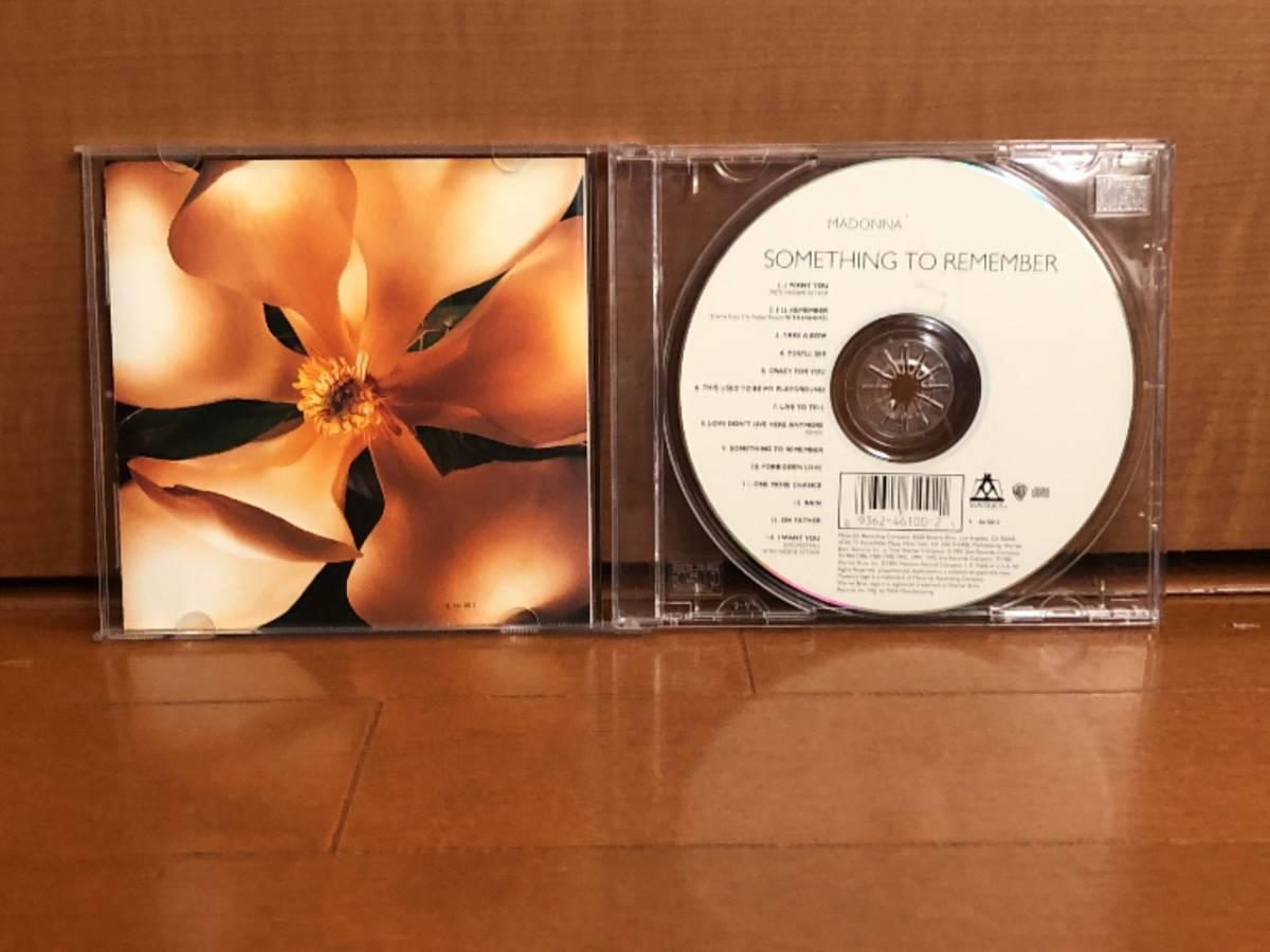 写真多数 Madonna マドンナ CD「Something To Remember」中古良品 輸入盤 _画像4