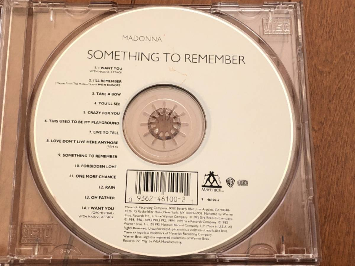 写真多数 Madonna マドンナ CD「Something To Remember」中古良品 輸入盤 _画像6