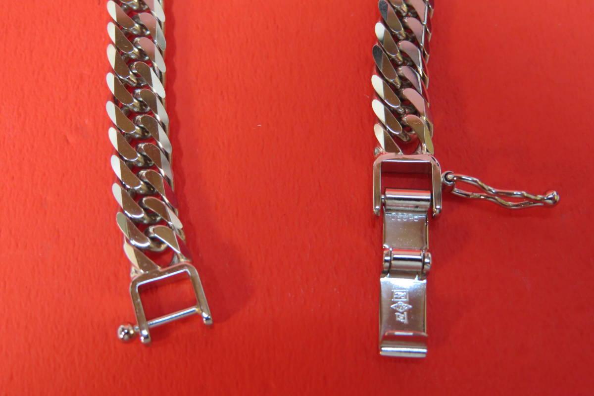 新品 プラチナ  喜平 6 面 チェーン ブレスレット   18 cm   20 g  _画像5