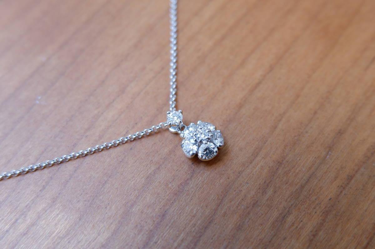 Pt ラザール ダイヤモンド 0.37ct ネックレス フラワー ラザールキャプラン_画像4