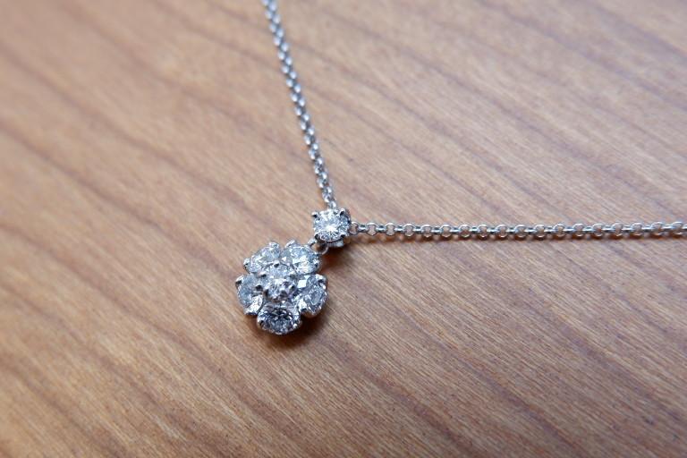 Pt ラザール ダイヤモンド 0.37ct ネックレス フラワー ラザールキャプラン_画像7