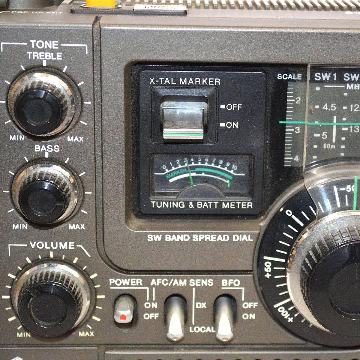 当時物 SONY ソニー ICF-5900 ラジオ スカイセンサー 5BAND バンド マルチバンド レシーバー 昭和 レトロ 東E_画像4