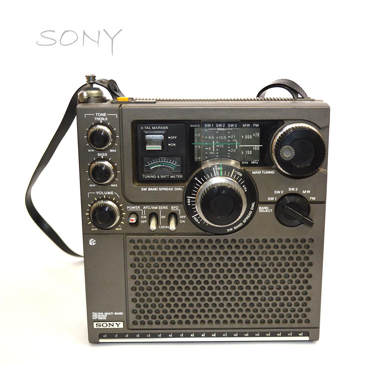 当時物 SONY ソニー ICF-5900 ラジオ スカイセンサー 5BAND バンド マルチバンド レシーバー 昭和 レトロ 東E