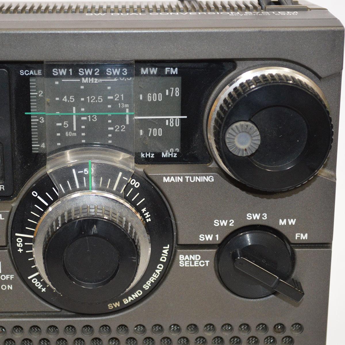当時物 SONY ソニー ICF-5900 ラジオ スカイセンサー 5BAND バンド マルチバンド レシーバー 昭和 レトロ 東E_画像5