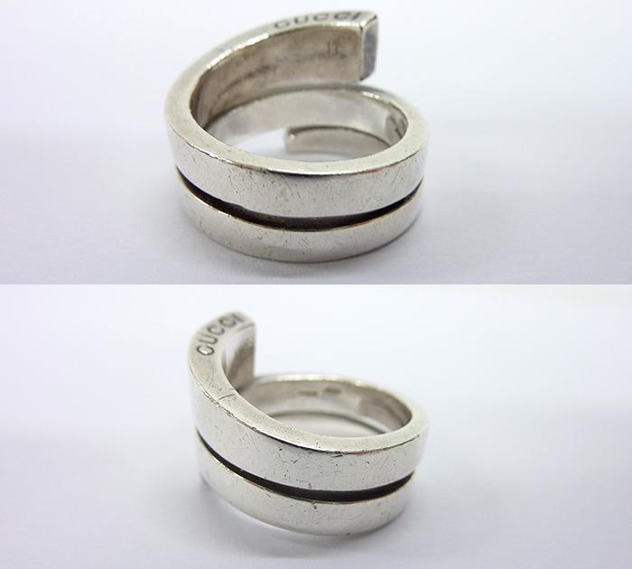 83250793e960 GUCCI グッチ スネーク リング 指輪 FF0737 SV925 738FI 13 約11号 シルバー 蛇