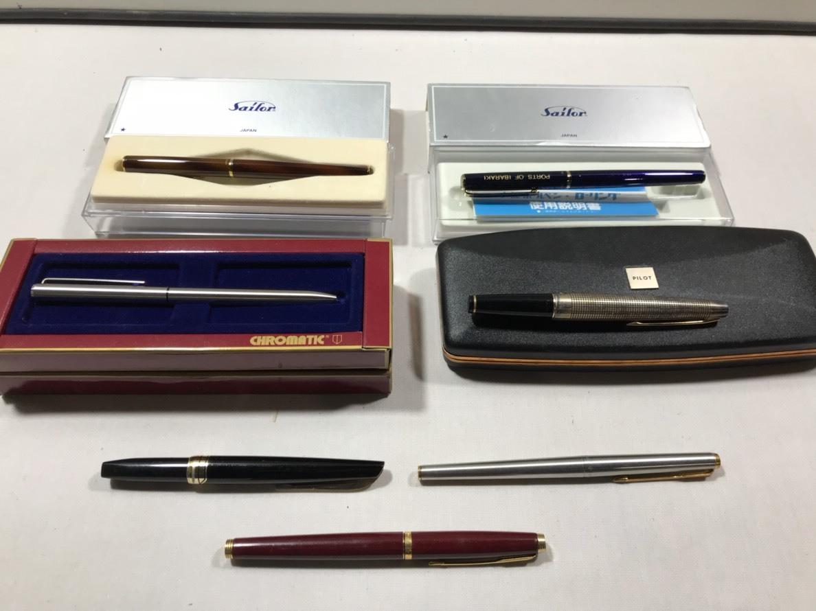 (17)万年筆 ボールペン 7本 セット PARKER sailor CHROMATIC など_画像1