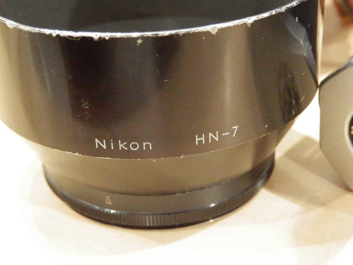 9857★Nikon ニコン フィルム一眼レフカメラ 初代F フォトミック NIKKOR-S AUTO 1:2.5 105mm+TAMRONレンズ付_画像3