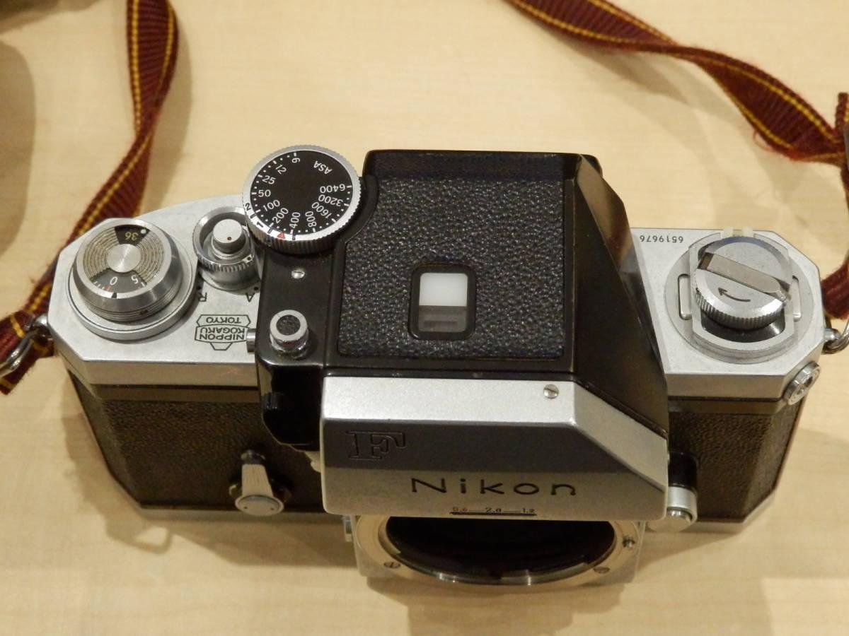 9857★Nikon ニコン フィルム一眼レフカメラ 初代F フォトミック NIKKOR-S AUTO 1:2.5 105mm+TAMRONレンズ付_画像4