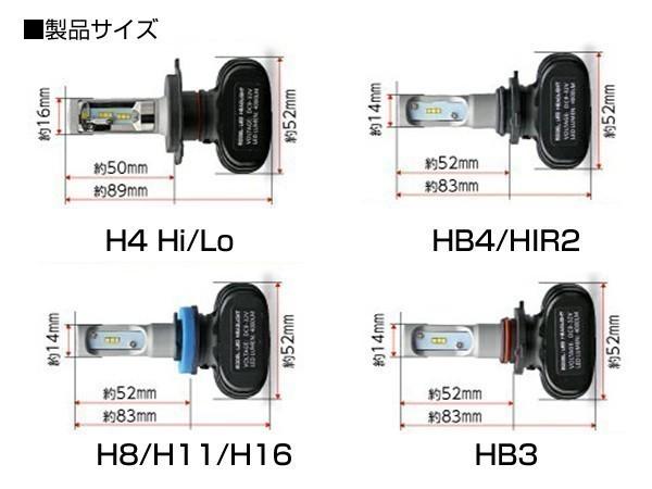 本物!車検対応LEDヘッドライト フォグランプ用 ファンレス H11 H8 H16 8000LM ホワイト 2個セット 6500K 【1年保証】_画像2