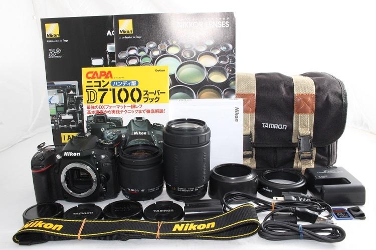 ニコン Nikon D7100 超望遠 300mm 標準 ダブルレンズセット タムロン TAMRON 28-80mm 70-300mm 極上美品 付属品充実 (15)
