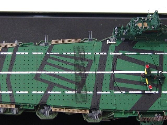 1/700 日本海軍空母 天城 フル電飾完成品 _画像9