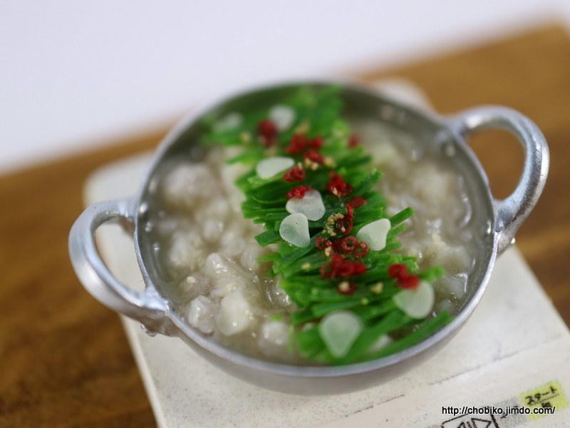 ちょび子★ミニチュア鍋料理★きりたんぽ他_画像8