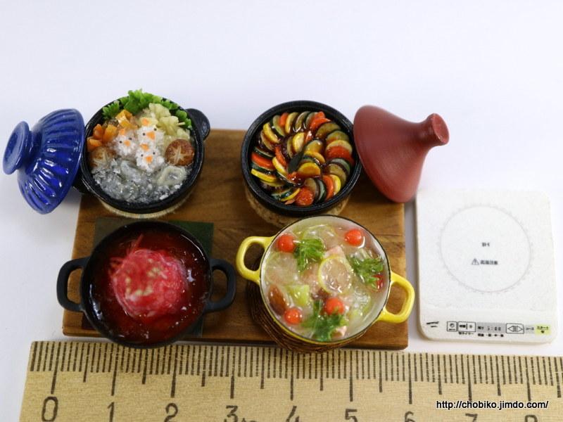 ちょび子★ミニチュア鍋料理★みぞれ鍋他_画像2
