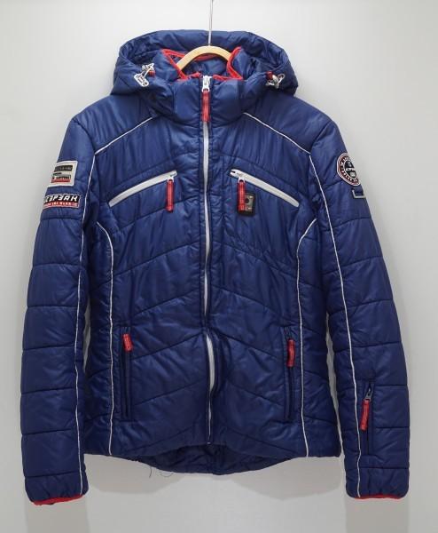 フィンランドアウトドアブランドICEPEAK 中綿スキージャケット レディス40 日本XL相当 おしゃれ北欧デザイン ネイビー_画像1
