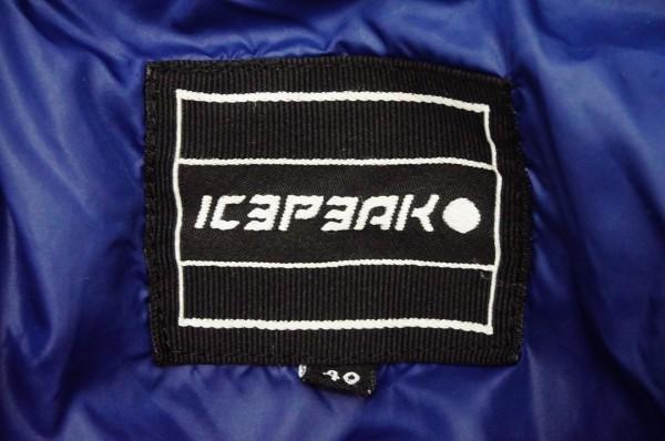 フィンランドアウトドアブランドICEPEAK 中綿スキージャケット レディス40 日本XL相当 おしゃれ北欧デザイン ネイビー_画像4