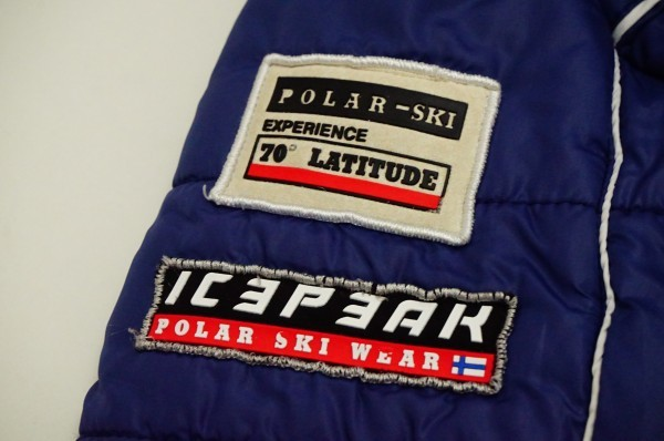 フィンランドアウトドアブランドICEPEAK 中綿スキージャケット レディス40 日本XL相当 おしゃれ北欧デザイン ネイビー_画像9