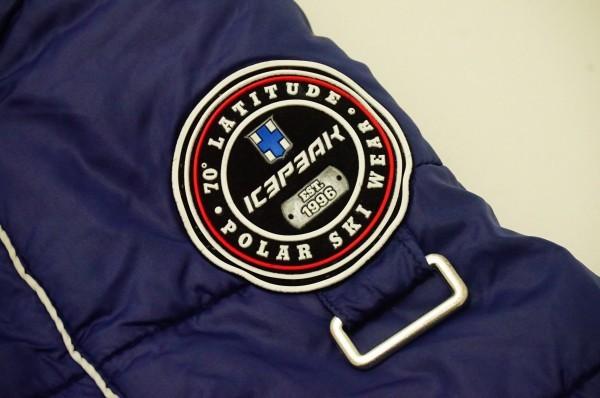 フィンランドアウトドアブランドICEPEAK 中綿スキージャケット レディス40 日本XL相当 おしゃれ北欧デザイン ネイビー_画像7