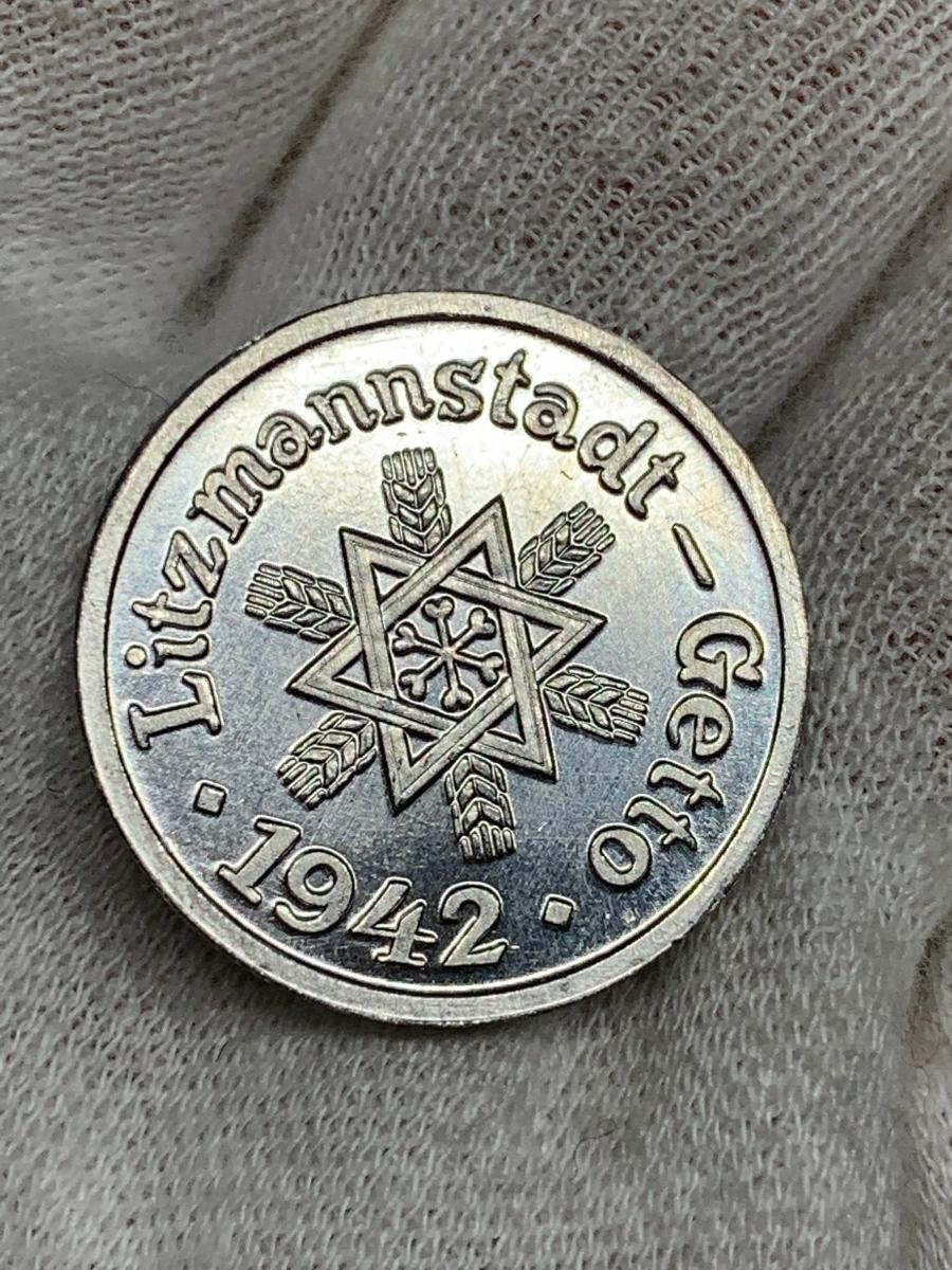 Ω1942年 ポーランド 銀貨アルミ貨古銭硬貨参考品 レア 記念 メダル コイン アンティーク コレクション 希少 骨董 海外外国 レプリカて21_画像5