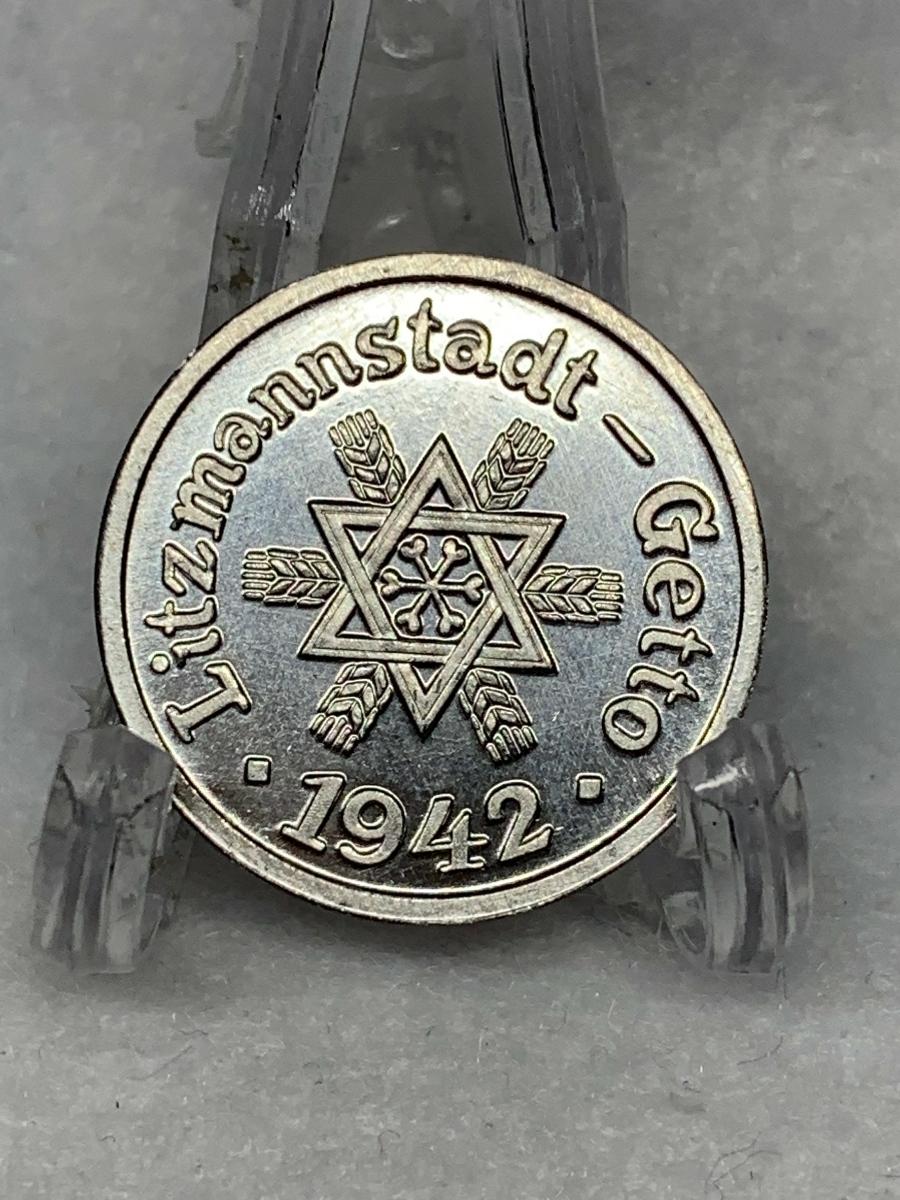 Ω1942年 ポーランド 銀貨アルミ貨古銭硬貨参考品 レア 記念 メダル コイン アンティーク コレクション 希少 骨董 海外外国 レプリカて21_画像2
