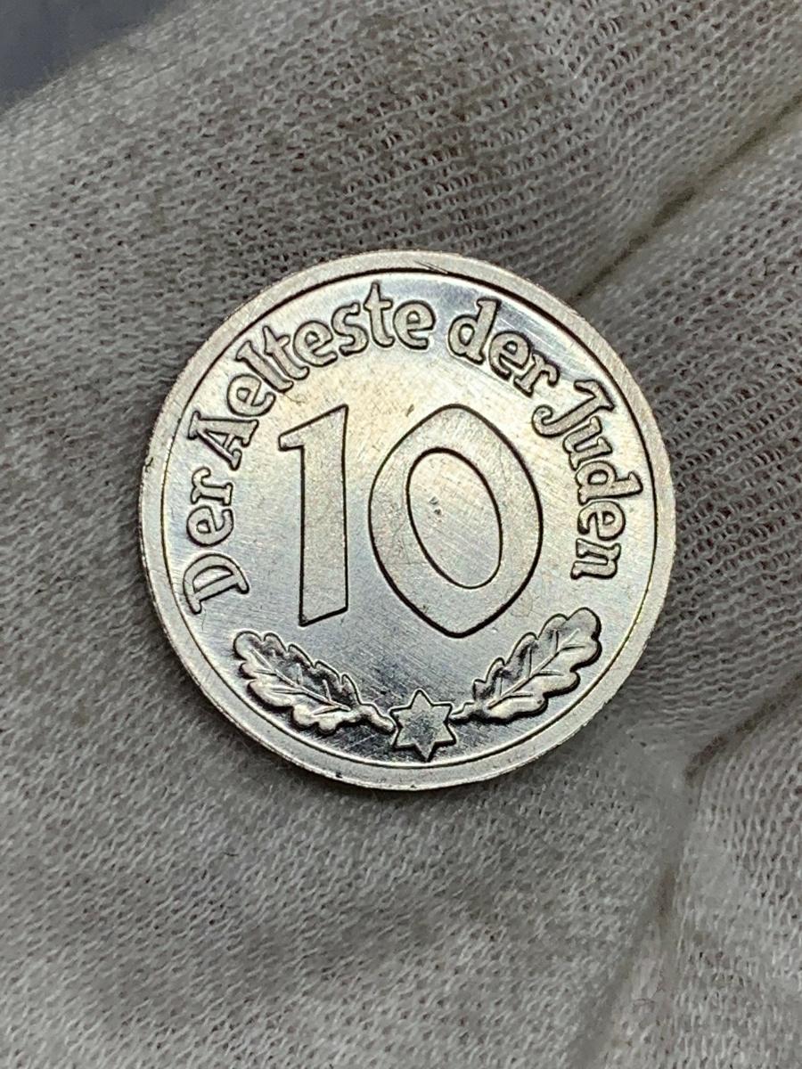 Ω1942年 ポーランド 銀貨アルミ貨古銭硬貨参考品 レア 記念 メダル コイン アンティーク コレクション 希少 骨董 海外外国 レプリカて21_画像4