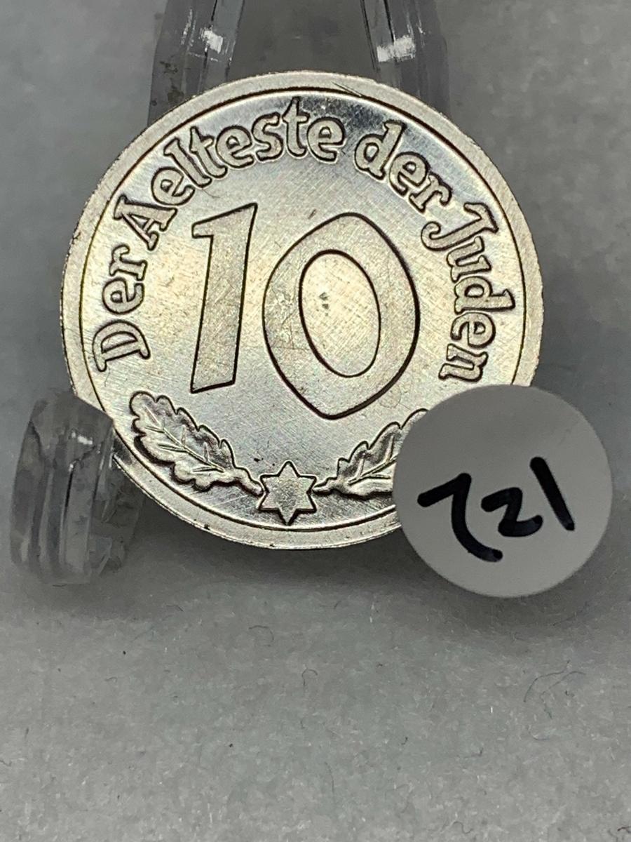 Ω1942年 ポーランド 銀貨アルミ貨古銭硬貨参考品 レア 記念 メダル コイン アンティーク コレクション 希少 骨董 海外外国 レプリカて21_画像1