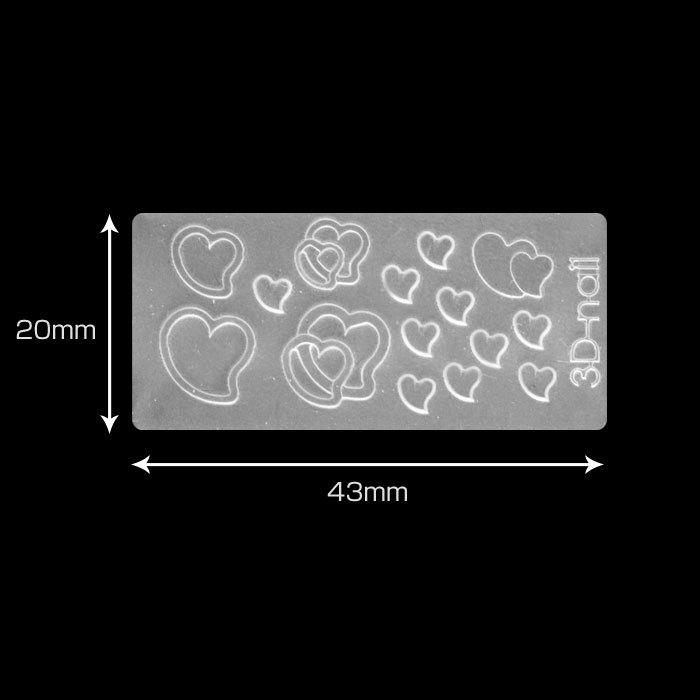 シリコンモールド ハート4 / シリコンモールド レジン デコ レジン DIY ネックレス ピアス ペンダント キット 型 枠_画像5