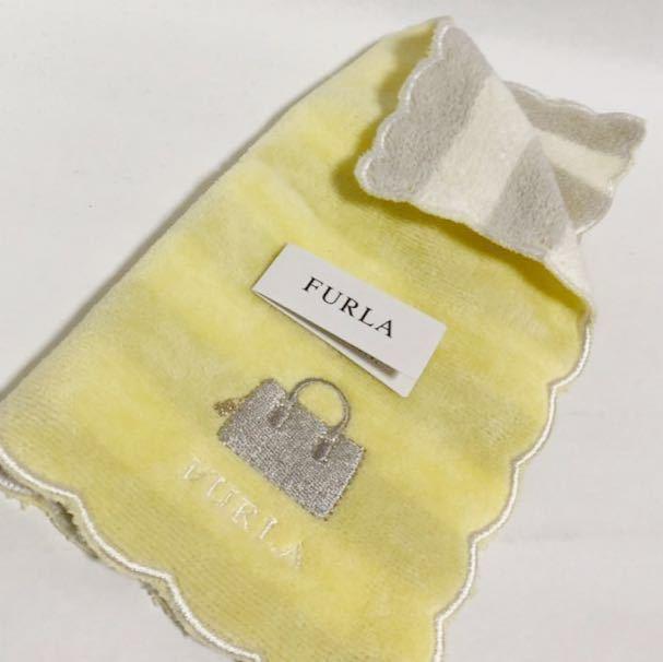 087392597f65 代購代標第一品牌- 樂淘letao - 【新品】フルラFURLA タオルハンカチ黄色ベージュボーダー新生活