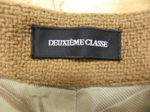 Deuxieme Classe ドゥーズィエム クラス レディース 日本製 エンブレムボタン コットン ジャガード ショートパンツ キャメル サイズ36_画像2