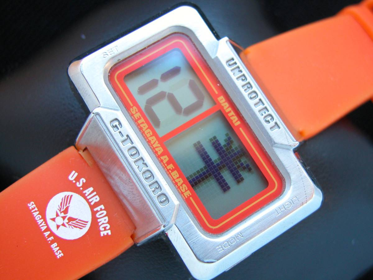 即決 本物 所さんのDAITAI時計 世田谷ベース オレンジ