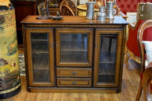 4406m Vintage Feeling Overflow The Glass Door Cabinet Deep Exist