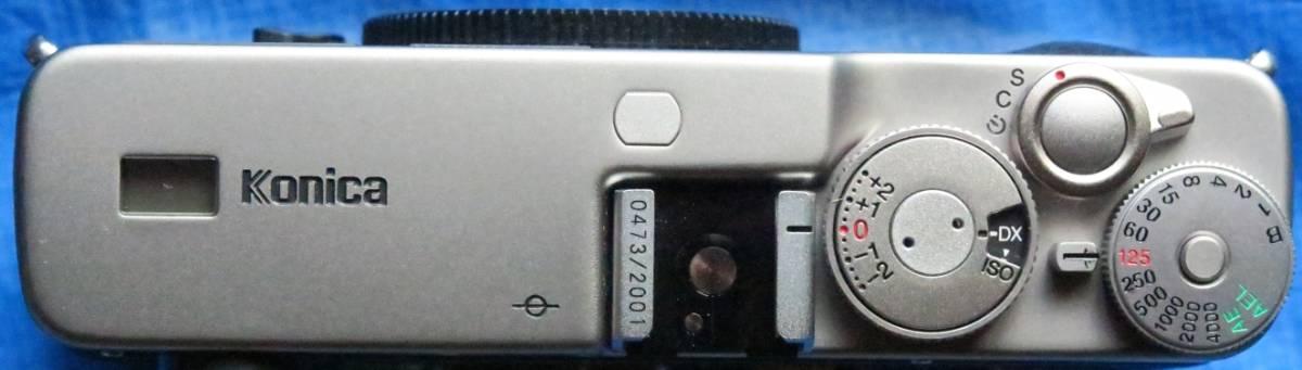 Konica Hexar コニカ ヘキサー RF Limitedミレニアム記念限定2001台限定[国内発売モデル] 未使用品 距離計連動式MマウントAEフィルムカメラ_画像6