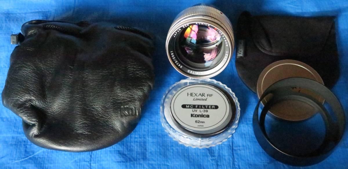 Konica Hexar コニカ ヘキサー RF Limitedミレニアム記念限定2001台限定[国内発売モデル] 未使用品 距離計連動式MマウントAEフィルムカメラ_画像4