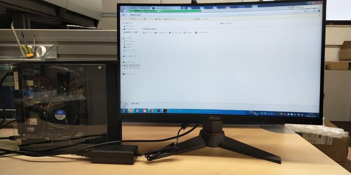 自作ゲーミングPC(パソコン) i7-4770 メモリ8GB GT1030 & MSI MAG24C ゲーミング曲面モニター