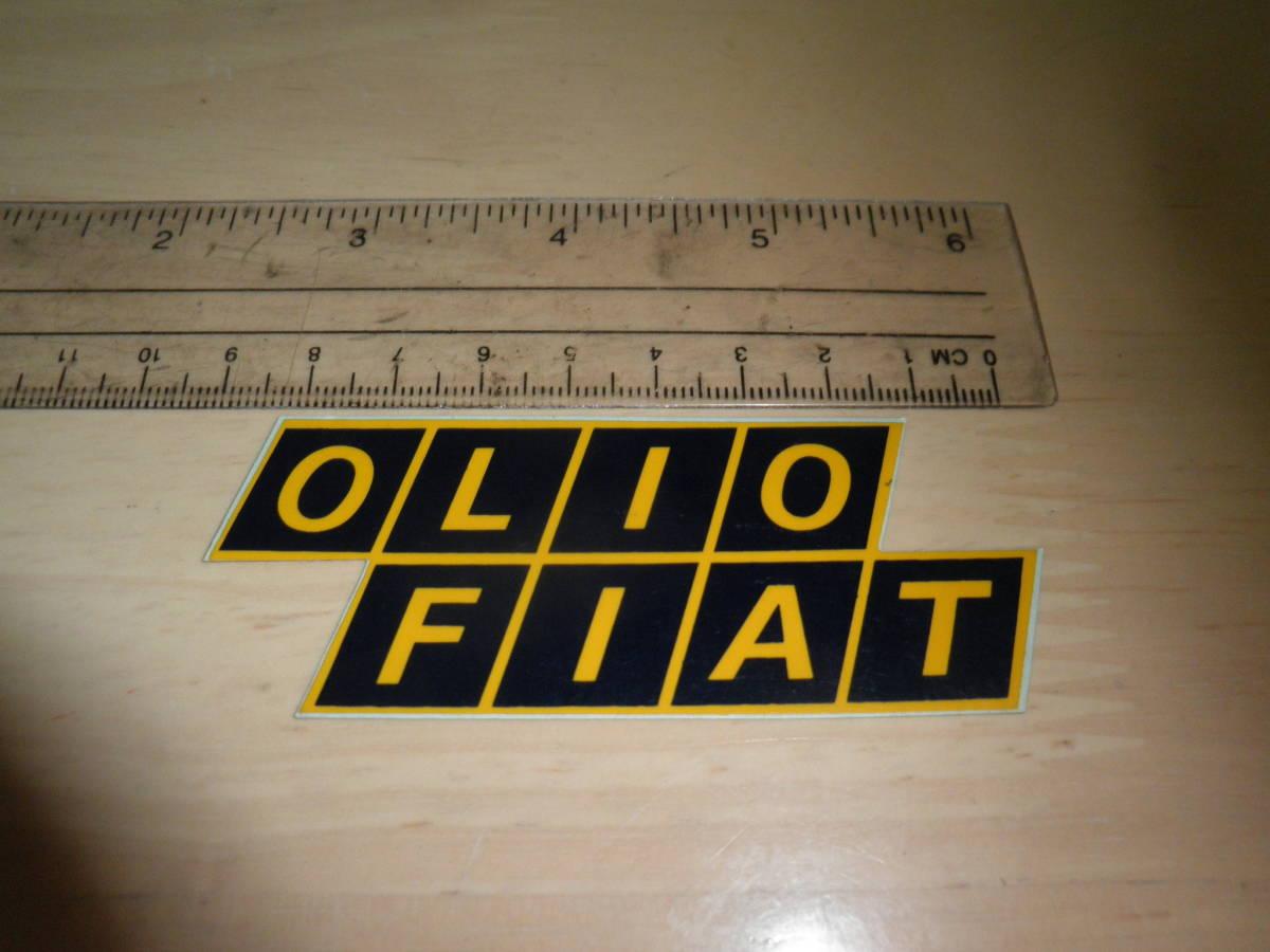 Olio Fiat Sticker 1 Sheets O Rio Fiat Real Yahoo Auction
